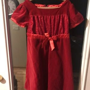 American Girl Bitty Baby Red velvet and lace dress